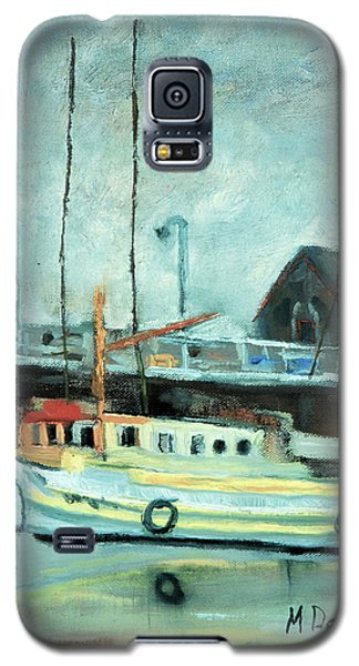 Galaxy S5 Case featuring the painting Boats At Provincetown Ma by Michael Daniels