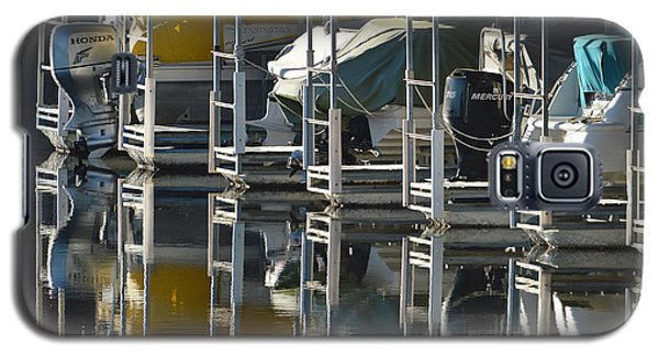Boats Docked For The Winter Galaxy S5 Case by Lena Wilhite