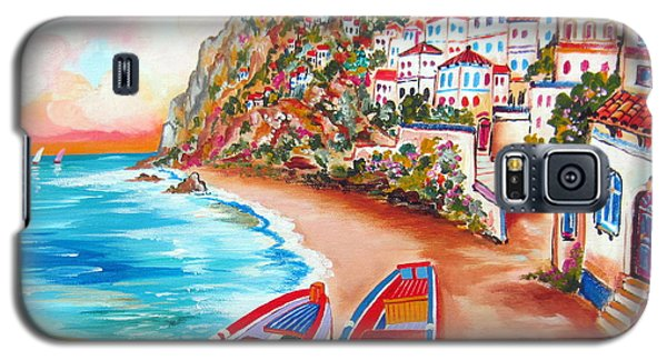 Boats Down The Amalfi Coast Galaxy S5 Case by Roberto Gagliardi