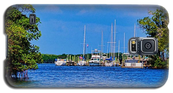 Galaxy S5 Case featuring the photograph Boat's Home by Pamela Blizzard