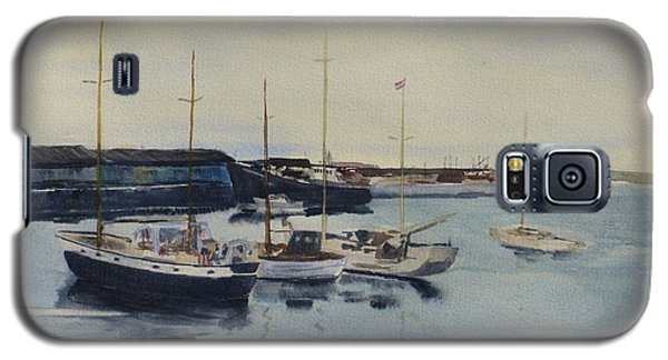 Boats In A Harbour Galaxy S5 Case by Martin Howard