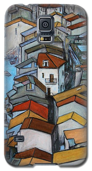Boats In Front Of The Buildings Iv Galaxy S5 Case by Xueling Zou