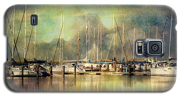 Boats In Harbour Galaxy S5 Case
