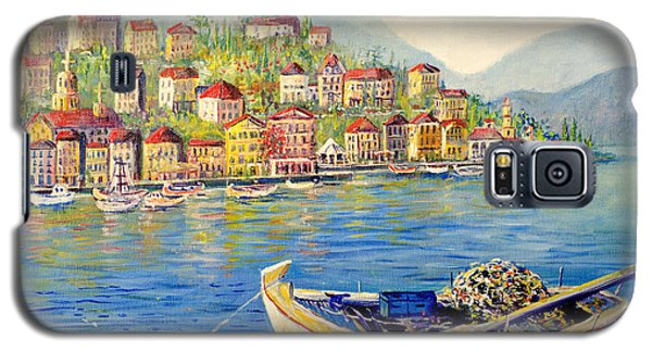 Boats In Italy Galaxy S5 Case by Lou Ann Bagnall