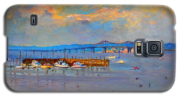 Duck Galaxy S5 Case - Boats In Piermont Harbor Ny by Ylli Haruni