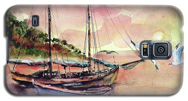 Boats In Sunset  Galaxy S5 Case by Faruk Koksal