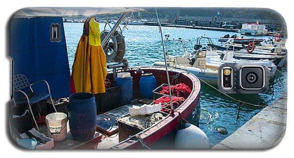 Boats In The Portovenere Harbor 2 Galaxy S5 Case