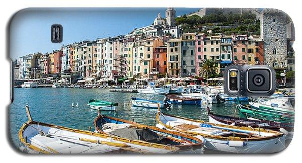 Boats In The Portovenere Harbor 3 Galaxy S5 Case