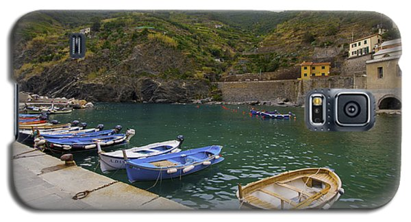 Boats In Vernazza Galaxy S5 Case