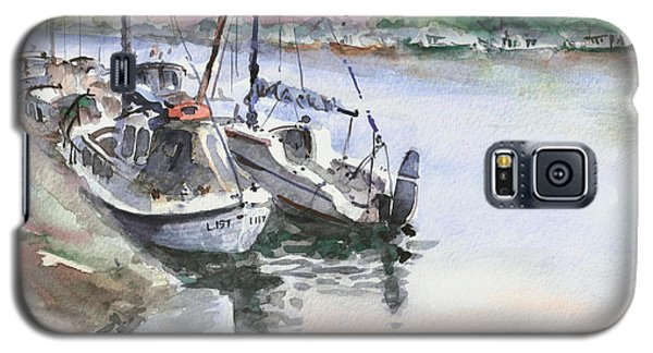Galaxy S5 Case featuring the painting Boats Inshore by Faruk Koksal