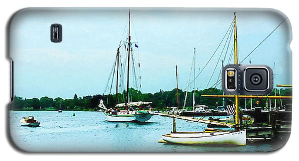 Galaxy S5 Case featuring the photograph Boats On A Calm Sea by Susan Savad