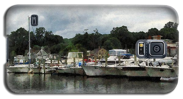 Galaxy S5 Case featuring the photograph Boats On A Cloudy Day Essex Ct by Susan Savad