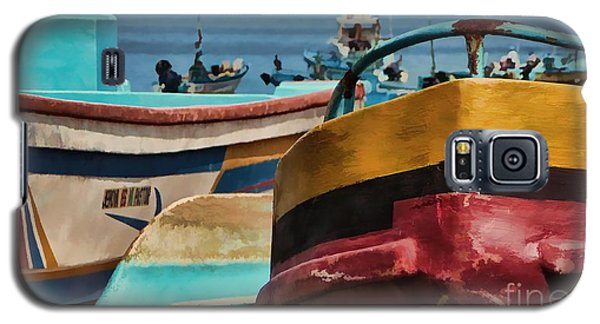 Boats On The Beach - Puerto Lopez - Ecuador Galaxy S5 Case