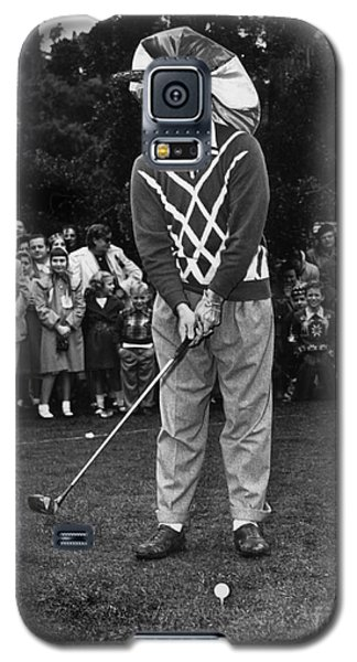 Bob Hope At Bing Crosby National Pro-am Golf Championship  Pebble Beach Circa 1955 Galaxy S5 Case