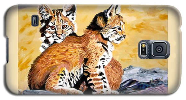 Galaxy S5 Case featuring the painting Bob Kittens by Phyllis Kaltenbach