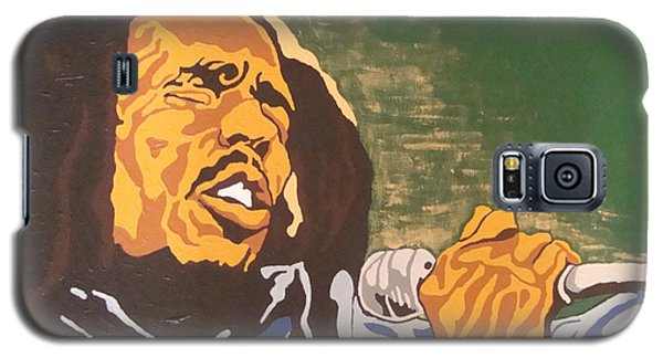 Galaxy S5 Case featuring the painting Bob Marley by Rachel Natalie Rawlins