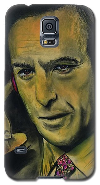 Galaxy S5 Case featuring the drawing Bob Odenkirk - Better Call Saul by Eric Dee