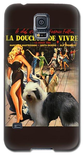 Bobtail -  Old English Sheepdog Art Canvas Print - La Dolce Vita Movie Poster Galaxy S5 Case