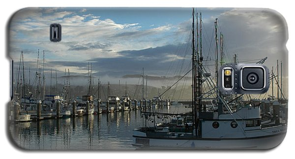Galaxy S5 Case featuring the drawing Bodega Fishing Boats by Dianne Levy