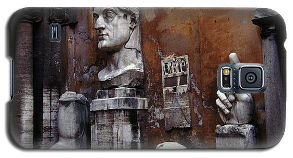 Galaxy S5 Case featuring the photograph Body Parts The Colossus Of Constantine Rome by Tom Wurl