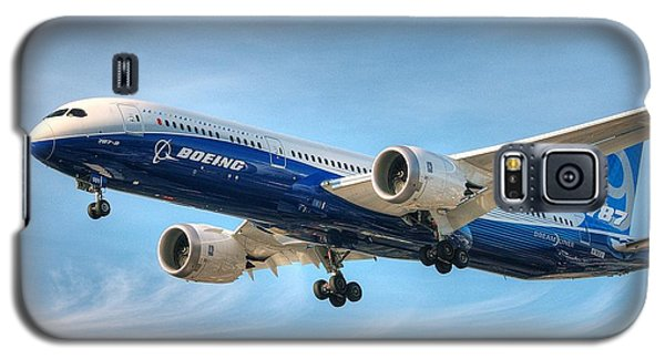 Galaxy S5 Case featuring the photograph Boeing 787-9 Wispy by Jeff Cook