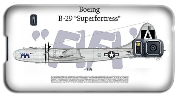 Galaxy S5 Case featuring the digital art Boeing B-29 Superfortress Fifi by Arthur Eggers