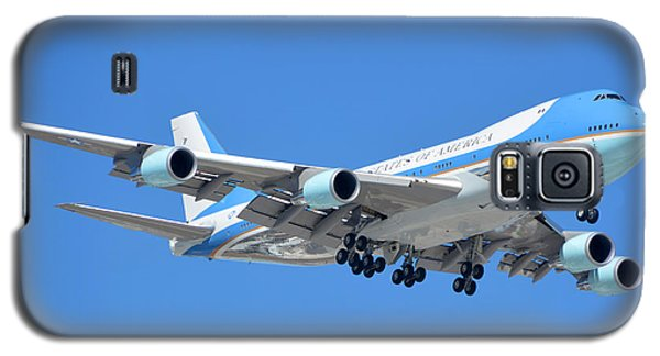 Air Force One Boeing Vc-25a 92-9000 Landing Phoenix Sky Harbor March 13 2015 Galaxy S5 Case