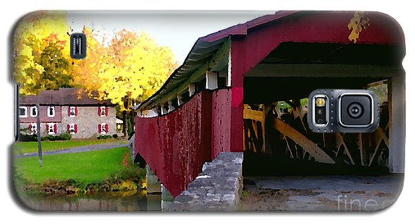 Bogerts Covered Bridge Allentown Pa Galaxy S5 Case