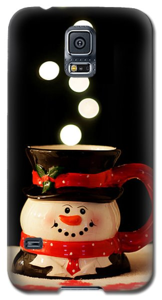 Galaxy S5 Case featuring the photograph Bokeh Fun With Snowman Mug by Barbara West