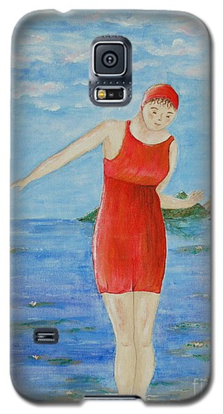 Galaxy S5 Case featuring the painting Bold Red by Tamyra Crossley