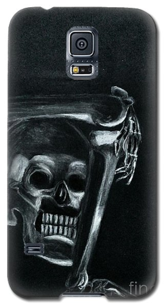 Galaxy S5 Case featuring the drawing Bones by Ayasha Loya