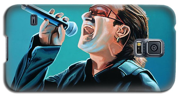 Bono Of U2 Painting Galaxy S5 Case by Paul Meijering