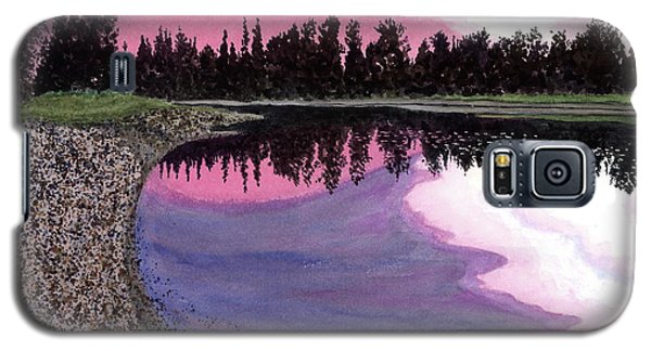 Galaxy S5 Case featuring the painting Bonsette's Sunset by Joel Deutsch