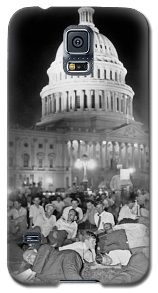 Bonus Army Sleeps At Capitol Galaxy S5 Case by Underwood Archives