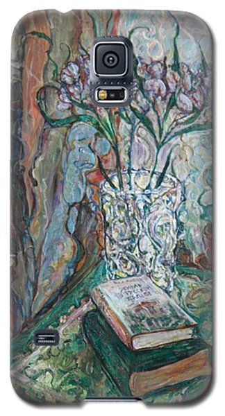 Books And Flowers Galaxy S5 Case