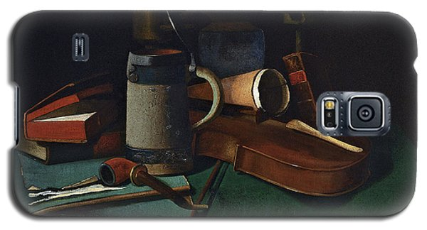Violin Galaxy S5 Case - Books Mug Pipe And Violin by John Frederick Peto