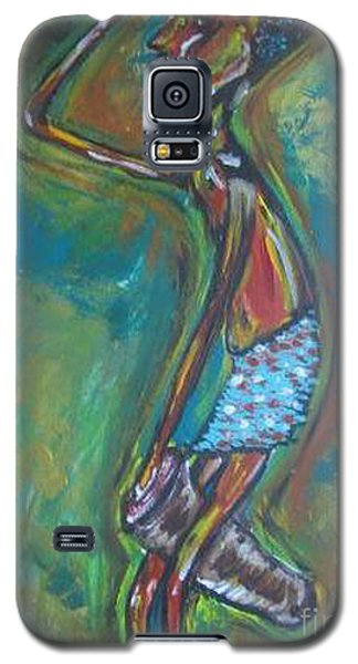 Galaxy S5 Case featuring the painting Boom Boom by Lucy Matta