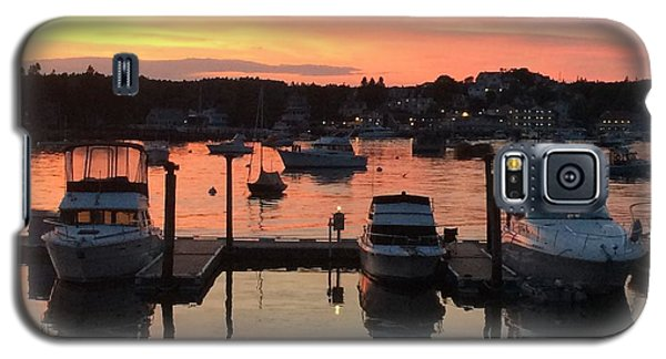 Galaxy S5 Case featuring the photograph Boothbay Sunset 1 by Lois Lepisto
