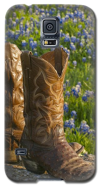 Boots And Bluebonnets Galaxy S5 Case