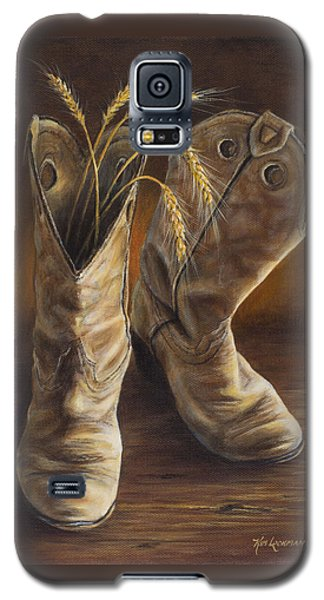 Boots And Wheat Galaxy S5 Case
