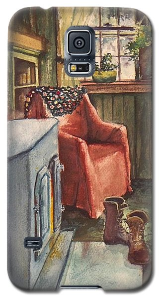 Galaxy S5 Case featuring the painting Boots by Joy Nichols