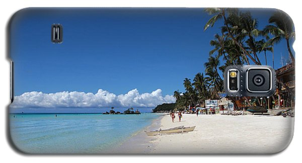 Galaxy S5 Case featuring the photograph Boracay Beach by Joey Agbayani