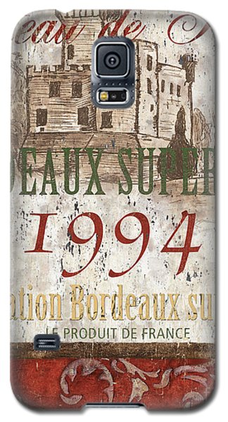 Wine Galaxy S5 Case - Bordeaux Blanc Label 2 by Debbie DeWitt