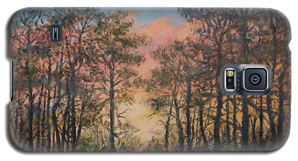 Galaxy S5 Case featuring the painting Border Pines by Kathleen McDermott
