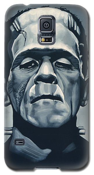 Portraits Galaxy S5 Case - Boris Karloff As Frankenstein  by Paul Meijering