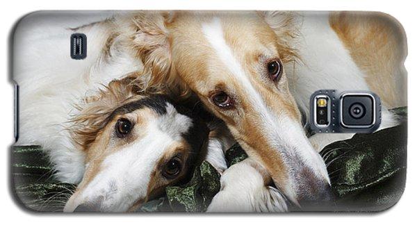 Borzoi Dogs In Love Galaxy S5 Case