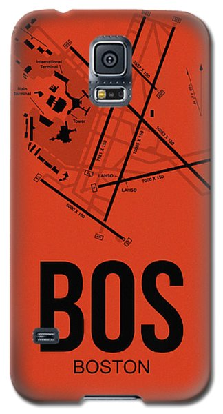 Transportation Galaxy S5 Case - Boston Airport Poster 2 by Naxart Studio