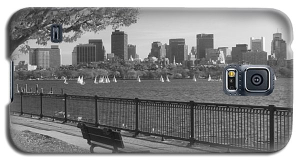 Boston Charles River Black And White  Galaxy S5 Case by John Burk