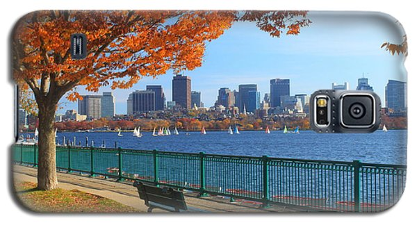 Boston Charles River In Autumn Galaxy S5 Case by John Burk