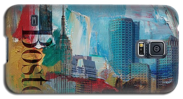 Boston City Collage 3 Galaxy S5 Case by Corporate Art Task Force